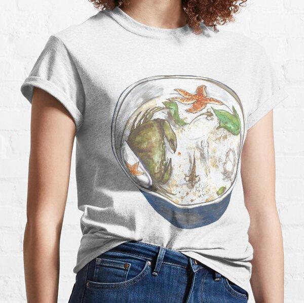 Rock Pool Bucket Crabs & Starfish Classic T-Shirt
