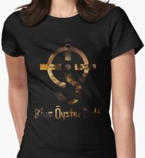 Blue oyster cult black back Womens Fitted T-Shirt