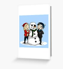 Cs Christmas (Clear) Greeting Card
