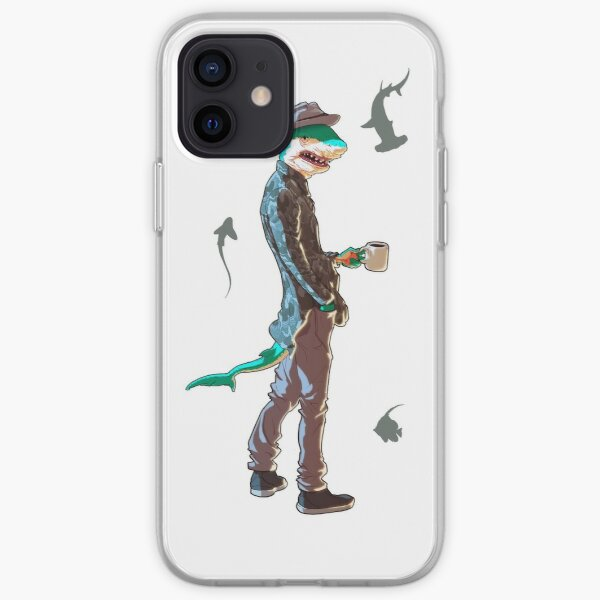 Humanoid Shark Coffee Guy iPhone Soft Case