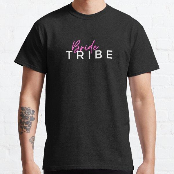 Bride Tribe Hot Pink & White Print Logo Classic T-Shirt
