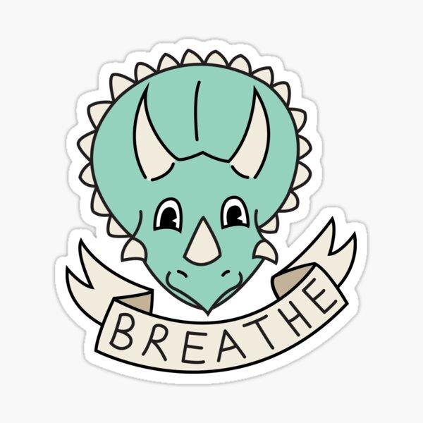 breathe (custom colours available) Sticker