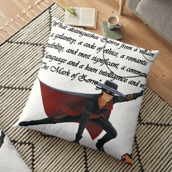 Zorro, Don Diego de la Vega Floor Pillow