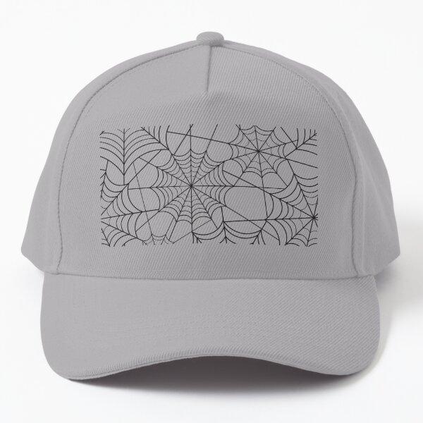 Halloween Black-White Spider Web Baseball Cap