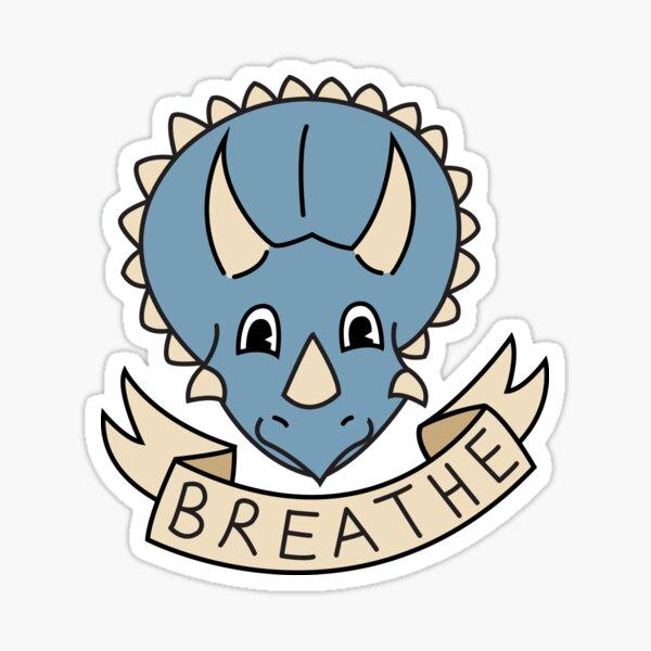 breathe [blue] (custom colours available) Sticker