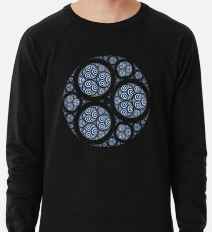Apollonian Gasket Mandelbrot 002 Lightweight Sweatshirt