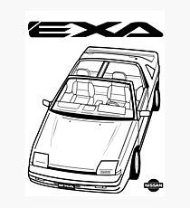 Nissan Exa Action Shot (LHD) Photographic Print