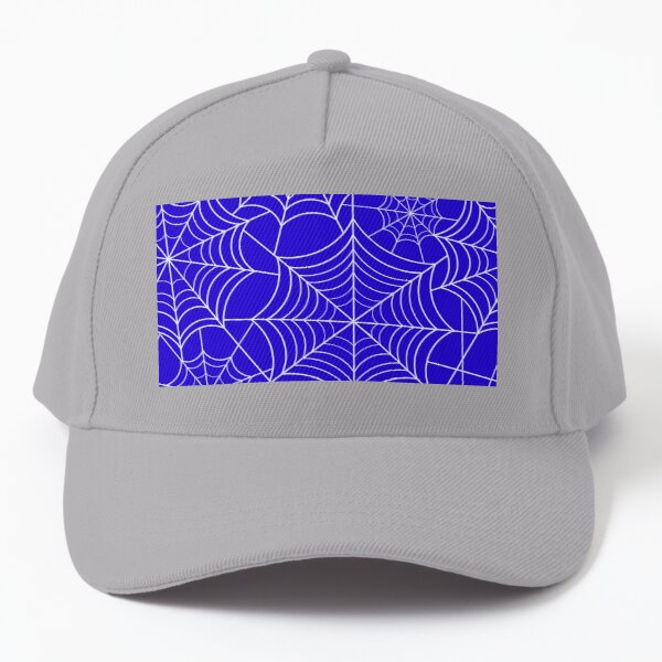 Halloween Blue Spider Web Baseball Cap