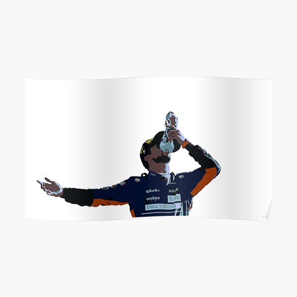 Daniel Ricciardo Shoey Monza 2021 Poster