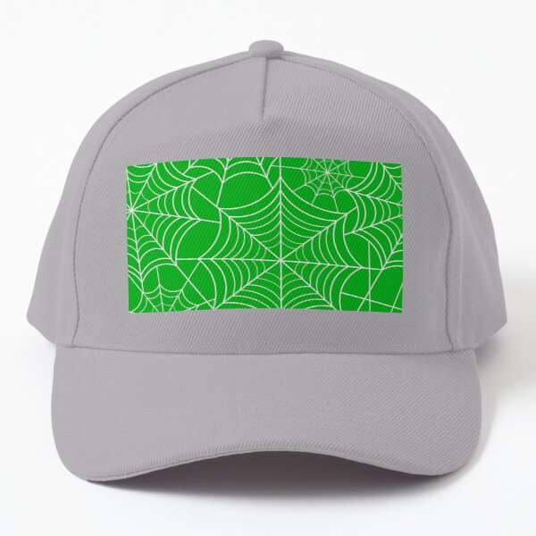 Halloween Green Spider Web Baseball Cap
