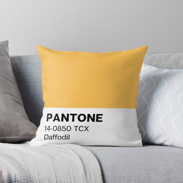 Pantone Daffodil Throw Pillow