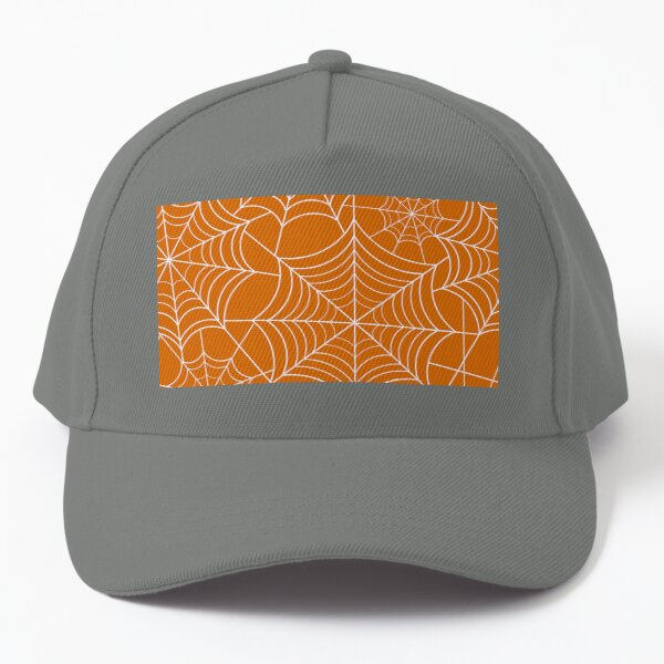 Halloween Orange Spider Web Baseball Cap
