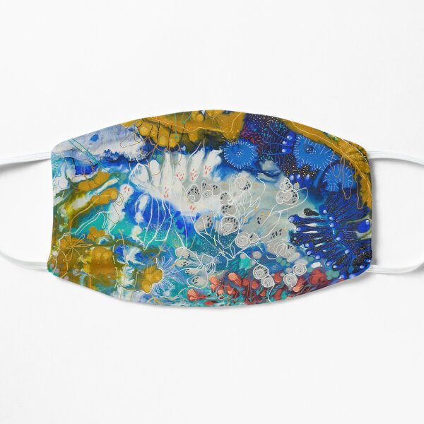 Underwater Blue Sea Flat Mask