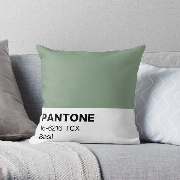 Pantone Basil Throw Pillow