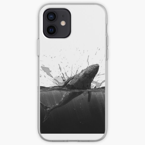 Jumping Whale and Bunny on a Little Boat iPhone Soft Case