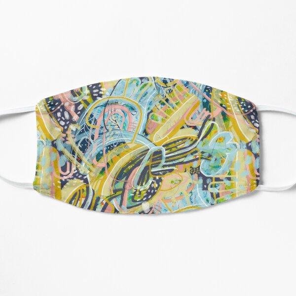 Pastel Blue Blossoms Flat Mask