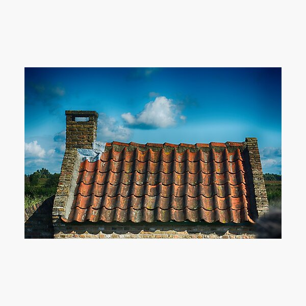 Dutch Roof at Kinderdijk Nederlands Photographic Print