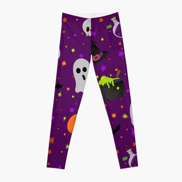 Purple Halloween print Leggings