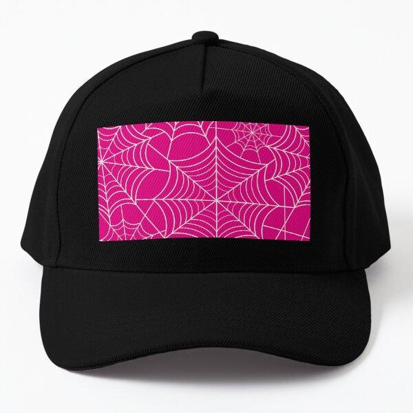 Halloween Pink Spider Web Baseball Cap