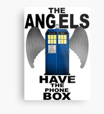 The Angels Have The Phonebox - Doctor Who Metal Print