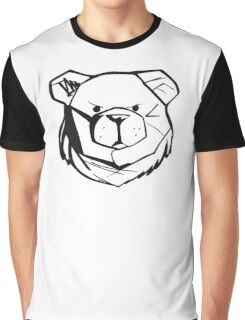 Robust Bear Logo Black Graphic T-Shirt