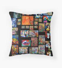 Art Collection Throw Pillow