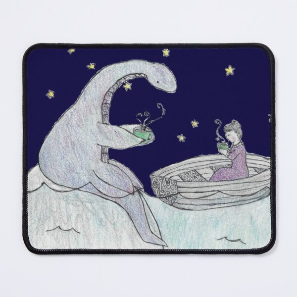 Teatime with the Loch Ness Monster Mouse Pad