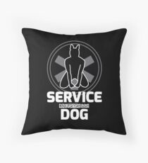 Nerdy Doggo Service Dog Throw Pillow