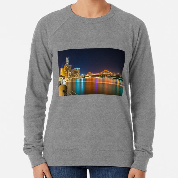Brisbane Story Bridge at Night Lightweight Sweatshirt