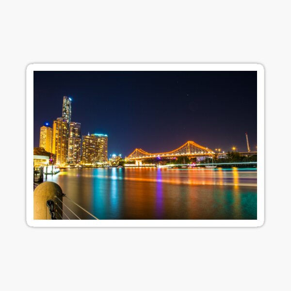 Brisbane Story Bridge at Night Sticker