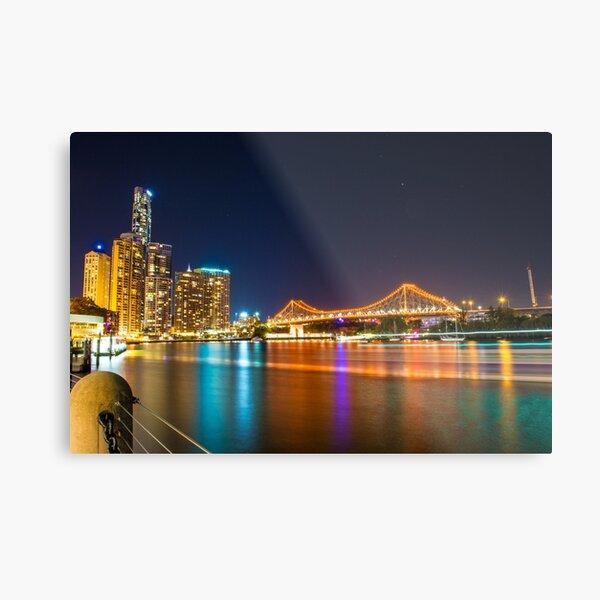 Brisbane Story Bridge at Night Metal Print
