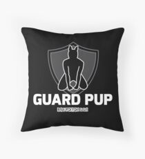 Nerdy Doggo Guard Pup Throw Pillow