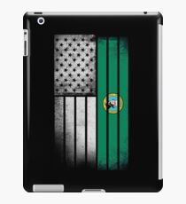 USA Vintage Washington State Flag iPad Case/Skin