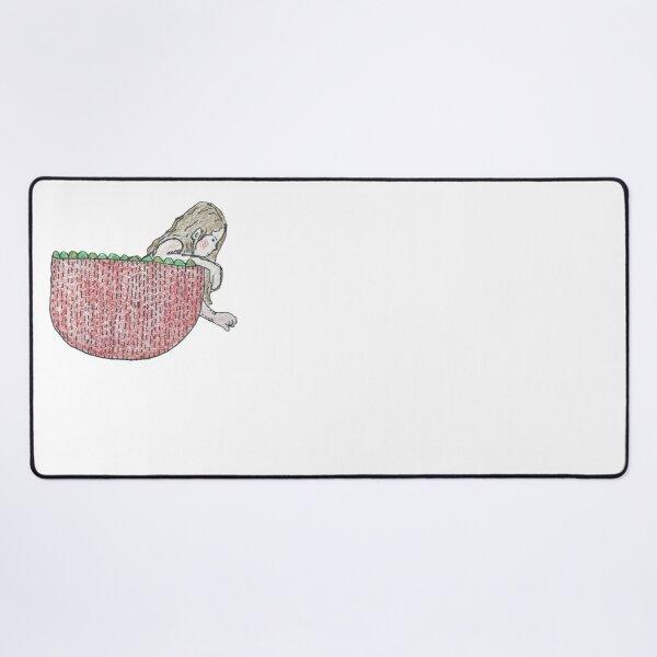 The Strawberry Girl Desk Mat