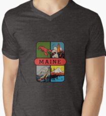 Maine Lobster Sailing Vintage Travel Decal T-Shirt