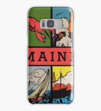 Maine Lobster Sailing Vintage Travel Decal Samsung Galaxy Case/Skin
