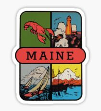 Maine Lobster Sailing Vintage Travel Decal Sticker