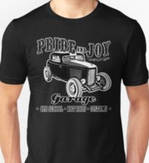 Pride and Joy Hot Rod Garage dark bkg T-Shirt