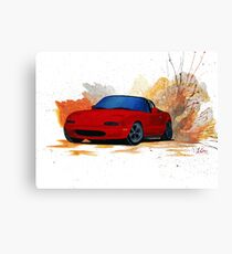 Mazda Miata Drift Painting Canvas Print
