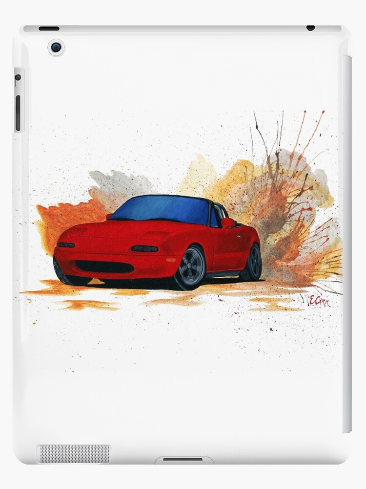 Mazda Miata Drift Painting Ipad Cases Skins By Becauseraceart