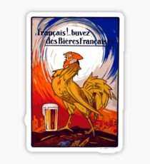 Vintage French Beer Advertisment Sticker