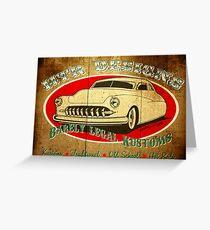 HTR Designs Barely Legal Kustoms garage Greeting Card