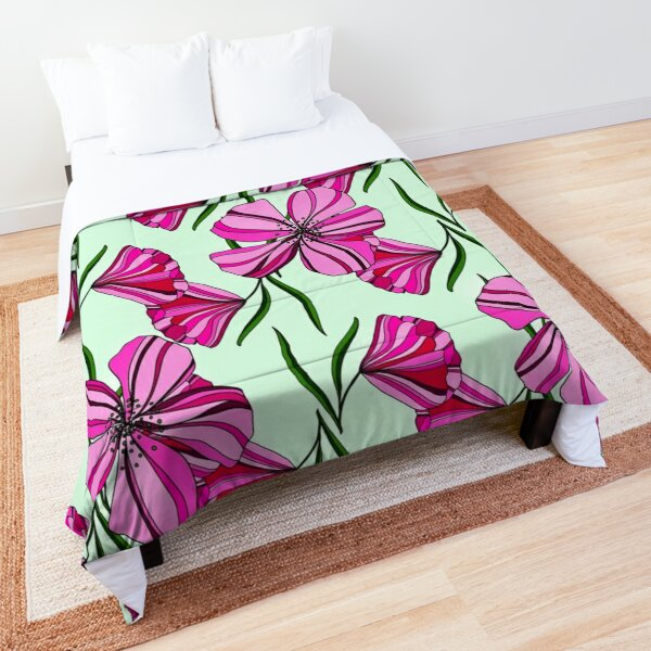 Flowers and leaves pattern  Comforter
