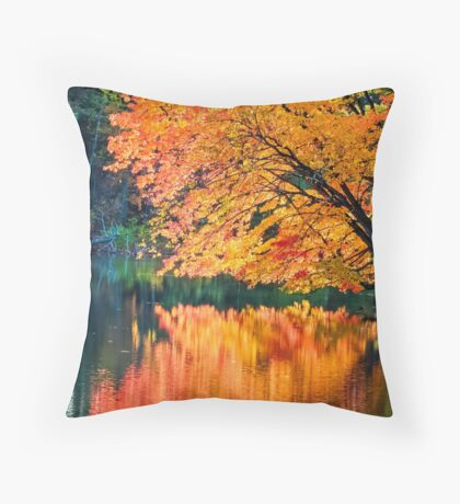 The Magic of Autumn in New England Throw Pillow