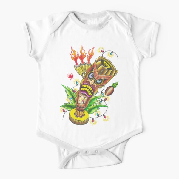 Tiki - Art By Kev G Short Sleeve Baby One-Piece