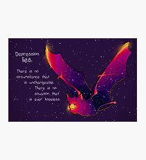 """Depression Lies"" Galaxy Bat Photographic Print"