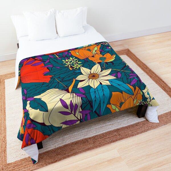 Hand drawn floral pattern  Comforter