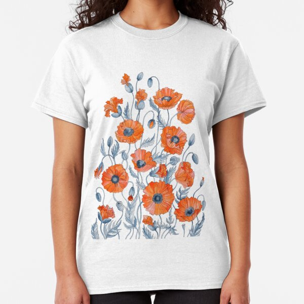 Poppies Floral Botanical art Classic T-Shirt