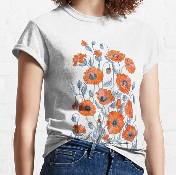 Poppies Floral Botanical art Classic T-Shirt