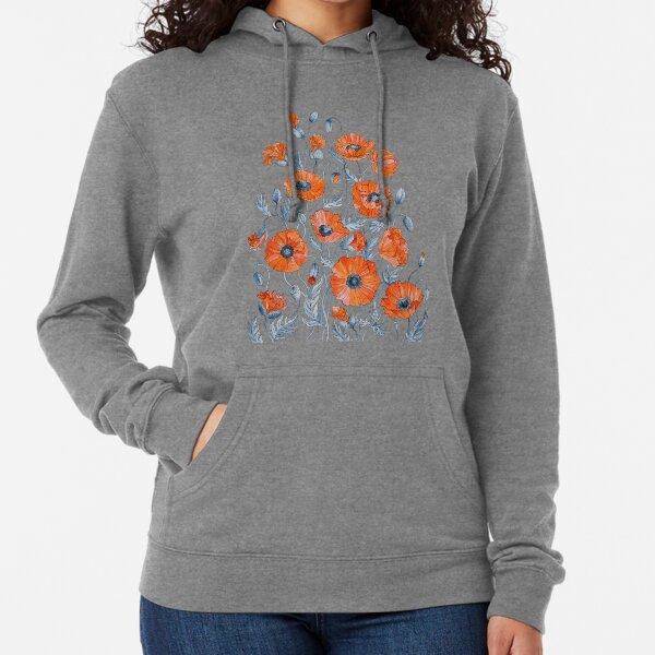 Poppies Floral Botanical art Lightweight Hoodie